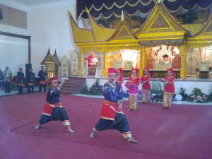 Penjak Silat and Cup Dance at Padang Wedding in Bogor, Indonesia