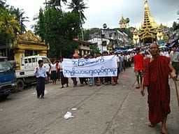 why burma - protests - course - Wikimedia Commons